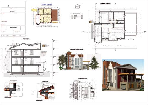 A imagem mostra as pranchas executivas de uma construcao realizadas com Edificius, o software BIM para projeto arquitetonico da ACCA