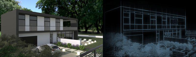 A imagem mostra o conceito de gemeo digital de um edificio