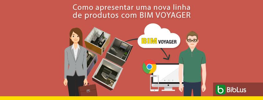 A imagem mostra o showroom virtual de banheiros para apresentar seu produtos com BIM VOYAGER