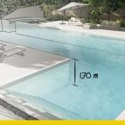 A imagem mostra o render de um projeto de piscina realizado com Edificius