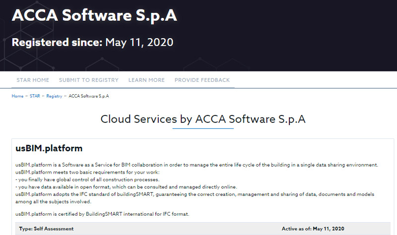 A imagem mostra a certificacao CSA da ACCA software