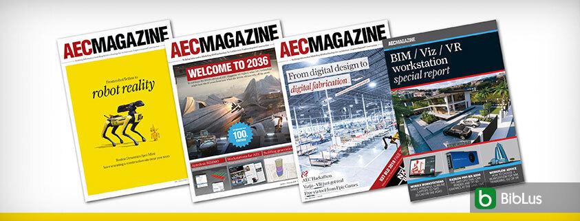 A imagem mostra a capa da AEC Magazine