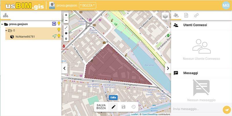 A imagem mostra como criar um poligono em um mapa GIS