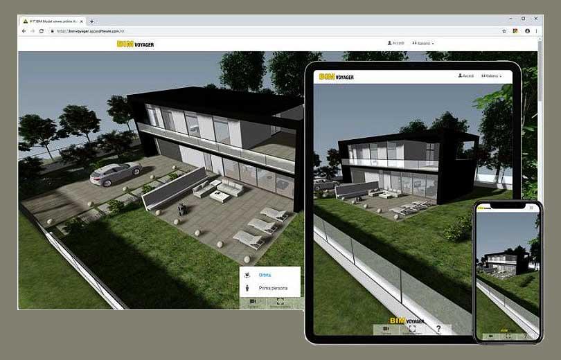 A imagem mostra a interface do BIM VOYAGER para apresentar imoveis on-line