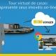 A imagem se refere ao tour virtual de casas com BIM VOYAGER