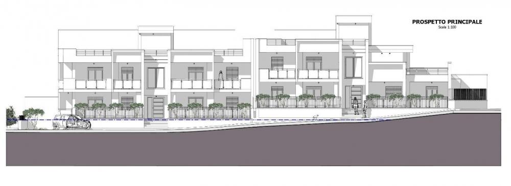 A imagem mostra uma elevacao principal realizada com Edifcius, o software BIM para arquitetura