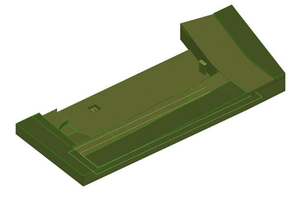 A imagem se refere a modelagem do terreno no ambito de um projeto Edificius User eXperience