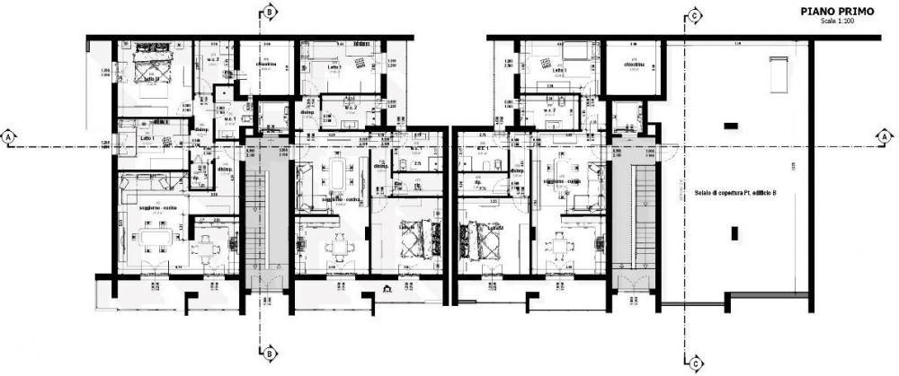 A imagem mostra uma planta de primeiro andar realizada com Edifcius, o software BIM para arquitetura
