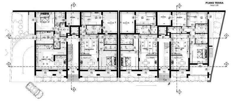 A imagem mostra uma planta de terreo realizada com Edificius