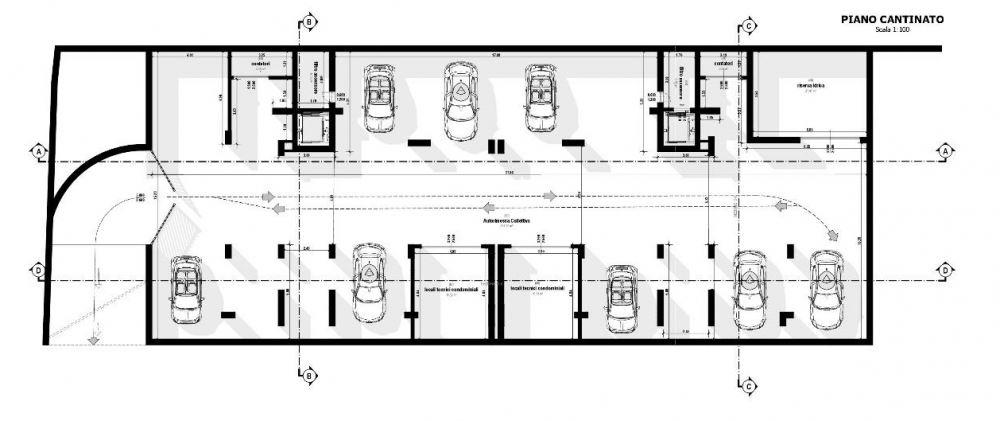 A imagem mostra uma planta de porao realizada com Edifcius, o software BIM para arquitetura