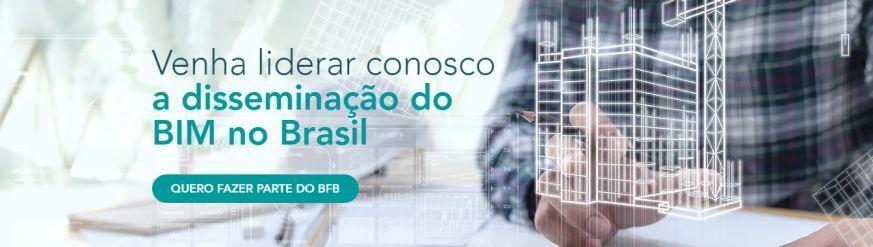A imagem mostra o convite para associacao ao BIM Forum Brasil