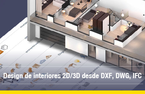 A imagem mostra o corte de um edificio realizado no Edificius, o software para design de interiores e projeto arquitetonico