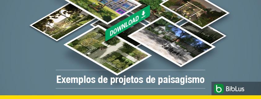 A imagem mostra algumas renderizacoes de espacos ao ar livre e de paisagismo
