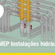 A imagem mostra um exemplo de instalacoes hidraulicas no ambiente MEP do Edificius