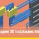 A imegm mostra instalacoes eletricas no Edificius MEP