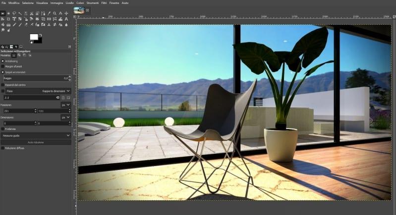 A imagem mostra o painel para a edição das renderizações no Edificius