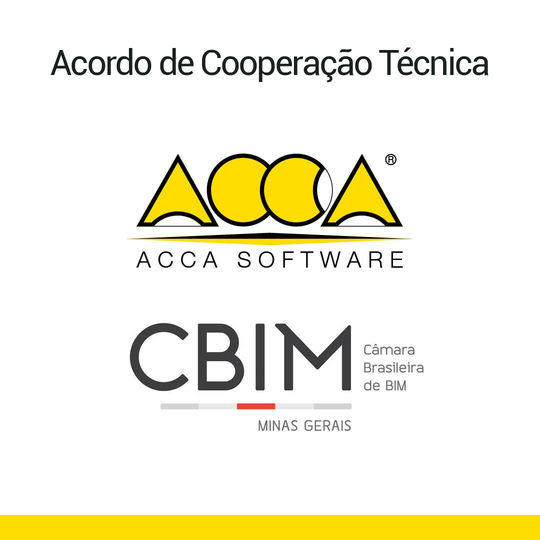 A imagem se refere ao acordo de cooperacao tecnica entre a ACCA e a CBIM MG