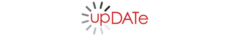A imagem mostra o logotipo da plataforma proprietaria upDATe, concebida pela Agenzia del Demanio italiana