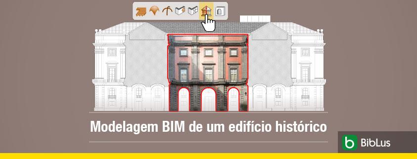 A imagem se ferese ao ambiente HBIM do Edificius