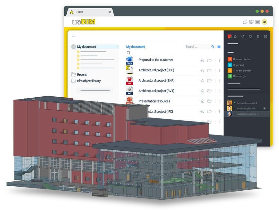 A imagem mostra o conceito de viewer on-line por meio do aplicativo usBIM da ACCA