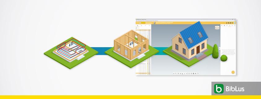 A imagem ilustra o conceito de modelos federados BIM mostrando a interface de usBIM.federation