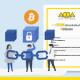 A imagem mostra um certificado de registro dos arquivos na blockchain