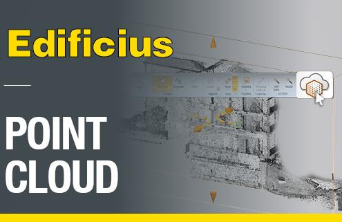 A imagem ilustra o conceito de nuvem de pontos no Edificius, o programa para construcoes da ACCA